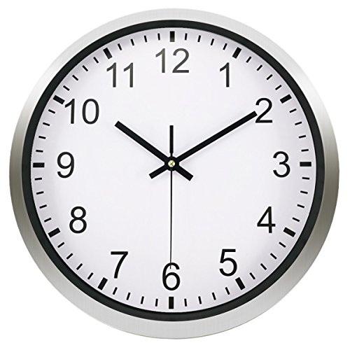 Foxtop Non ticking Universal Clock Large Stainless product image