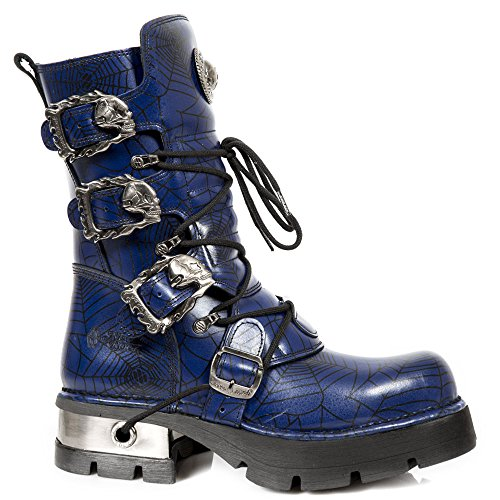 Nieuwe Rock Handgemaakte M 391 C16 Blau Unisex Stiefel