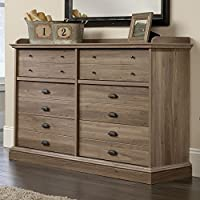 Sauder Barrister Lane 6 Drawer Dresser in Salt Oak