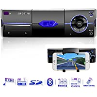 Car Stereo With Phone Holder, Single Din In Dash Car Radio Audio Receiver Supports Bluetooth/18FM/MP3/USB/MMC/SD/Remote Control by Xshop
