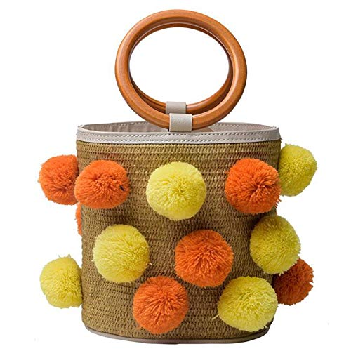 Straws Purse For Beach Summer 4 color Tote Women Bags Rattan Handmade 3 Handbag Woven Hungrybubble HR4Xz