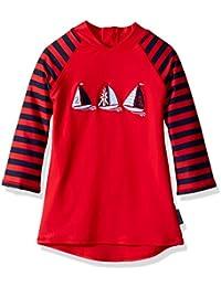JoJo Maman Bebe Little Boys' Sun Protection Rash Vest (Toddler/Kid)-Red