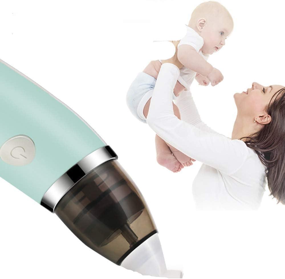Aspirador nasal eléctrico seguro higiénico de YAVOCOS con 2 tamaños de puntas de nariz y ventosa de nudo oral para recién nacidos verde Green WithBox Talla:mediano: Amazon.es: Bebé