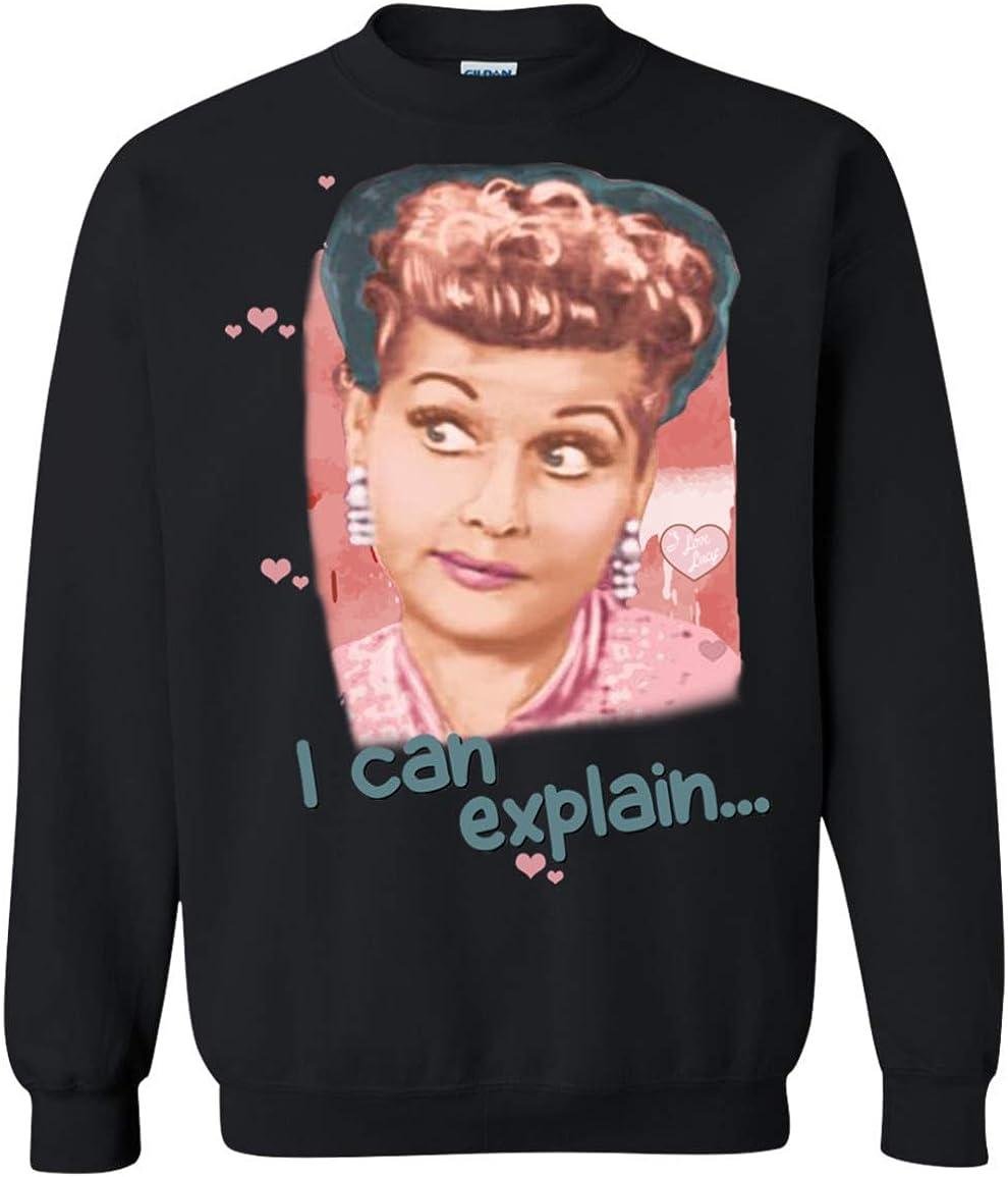 I Can Explain Crewneck Pullover Sweatshirt 8 oz. I Love Lucy
