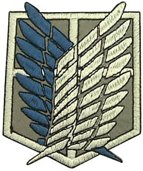 Amazon Com Qinf Shingeki No Kyojin Attack On Titan Recon Corps Logo Cosplay Embroidery Patch Badge Kitchen Dining