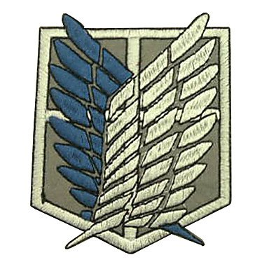 QINF Shingeki No Kyojin Attack on Titan Recon Corps Logo Cosplay Embroidery Patch Badge