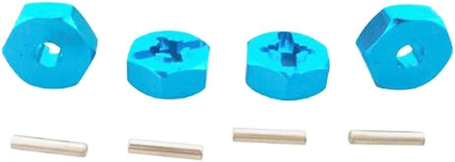 IFEN 4 st/ücke Aluminiumlegierung Rad Sechskantmuttern Mit Stiften Antriebsnaben 12mm Kontermutter Adapter RC Auto Metall Zubeh/ör F/ür 4WD RC Auto-Blau-1 Gr/ö/ße