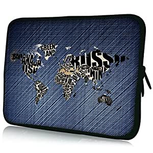 "HOR Mapa Patrón 7 ""/ 10"" / 13 ""Laptop Sleeve Case para el MacBook Air Pro / Ipad Mini / Galaxy Nexus Tab2/Sony/Google 18075 , 7 inch"