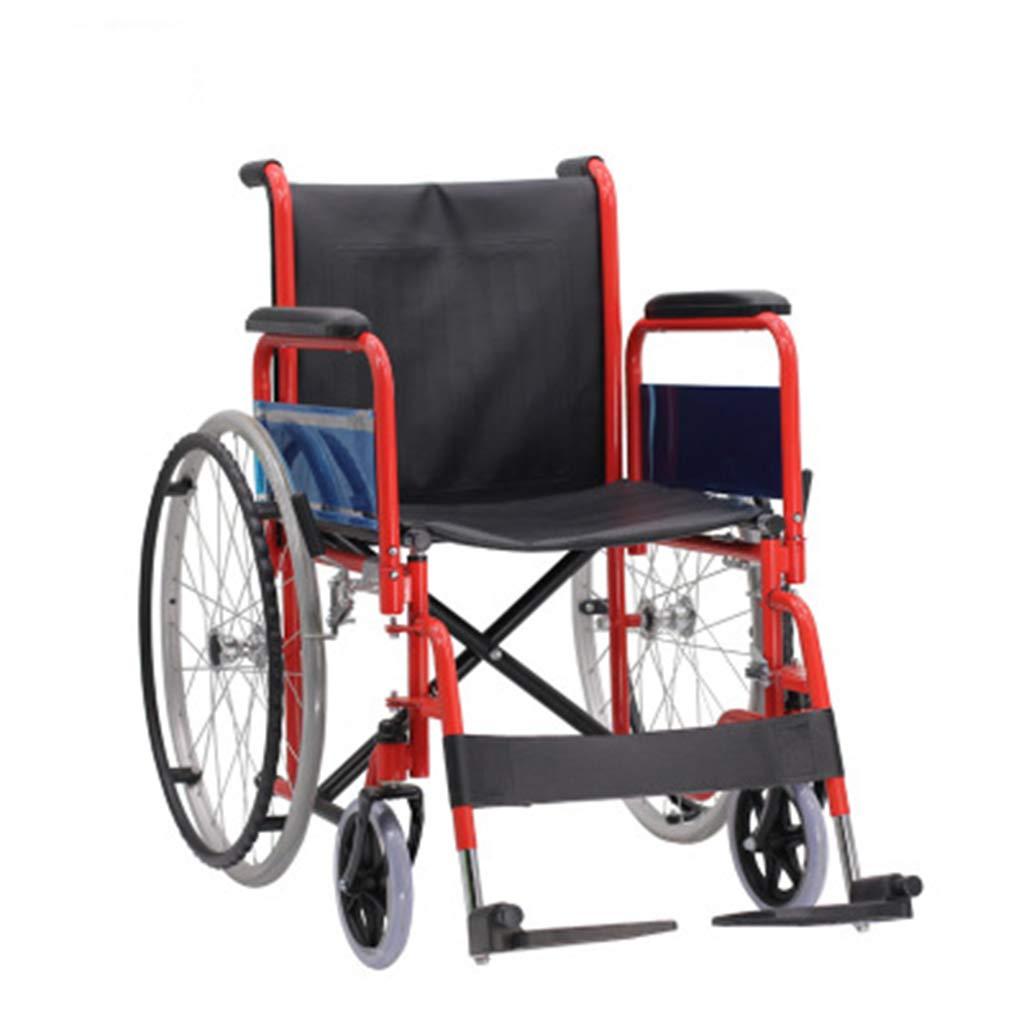 HATHOR-23 美しい車椅子、正方形の車椅子、新しいファッション、コンパクトな車椅子、省スペースの炭素鋼合金車椅子のリハビリテーション   B07PJS8ZC5