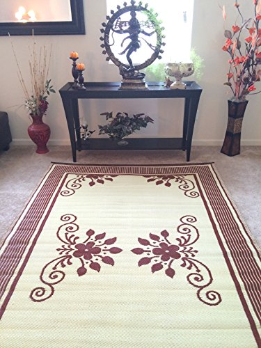 6'x9' Outdoor Patio RV camping Rug Mat Picnic Garden Reversible 20171
