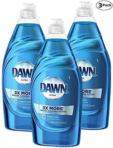 Dawn Ultra Dish Washing Liquid, Original Scent - 21.6 oz x 3 Pack - Total 64.80 Fl oz