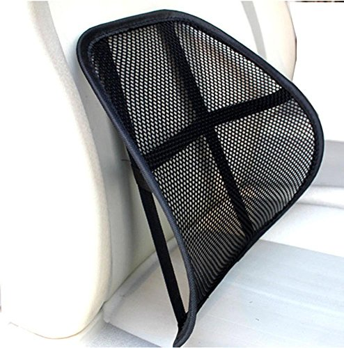 BSGSH Lumbar Support Cushion Seat Back Muscle Car Home Office Chair Pain Relief Travel - Cool Breathable Mesh Support by BSGSH (Image #1)