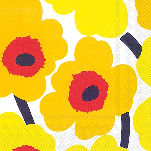 - Boston International L552671 Ihr Marimekko Floral Lunch Paper Napkins, 6.5 x 6.5