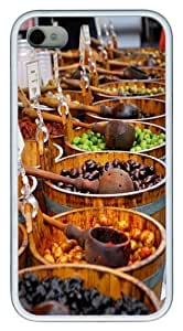 Borough Market TPU Silicone Case Cover for iPhone 4/4S White Halloween gift by icecream design