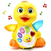 Musical Duck -Rolls Around Action Lights Music Toys With Adjustable Sound, Toys for girls and boys kids or toddlers