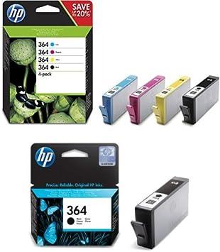 Hp 364 Multipack Original Druckerpatronen 2x Schwarz Rot Blau Gelb Für Hp Deskjet Hp Officejet Hp Photosmart Bürobedarf Schreibwaren