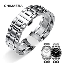 TISSOT Stainless Steel Watch Band for T035 CHIMAERA 19mm 22mm 23mm 24mm Metal Bracelet Strap Watchband Deployment Butterfly Clasp for Men