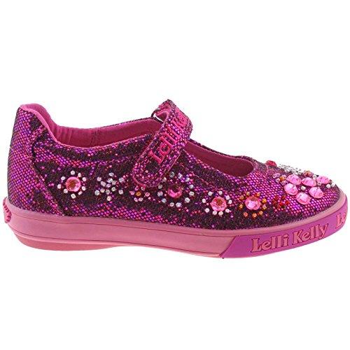 Lelli Kelly LK3110 (GW01) Rachele Purple Glitter Canvas Shoes -25 (UK 7)