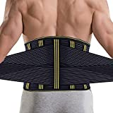 SZ-Climax Lumbar Back Brace Support Belt, Lumbar Back Protector, Posture Corrector for Back Pain Relief, Sciatica, Scoliosis, for Men Women with Removable Metal Spring Strip (L)