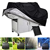 BBQ Gas Grill Cover Heavy Duty Waterproof Outdoor Heavy Duty BBQ Barbecue Cover UV Resistant BBQ Cover Durable, Convenient, Fits Grills Family Party