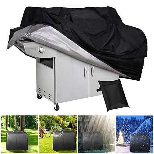 BBQ Gas Grill Cover Dust-proof Waterproof Outdoors Barbecue Cover, UV Resistant, Anti Sun Rot, Durable and Convenient, Fits Family Grill Party