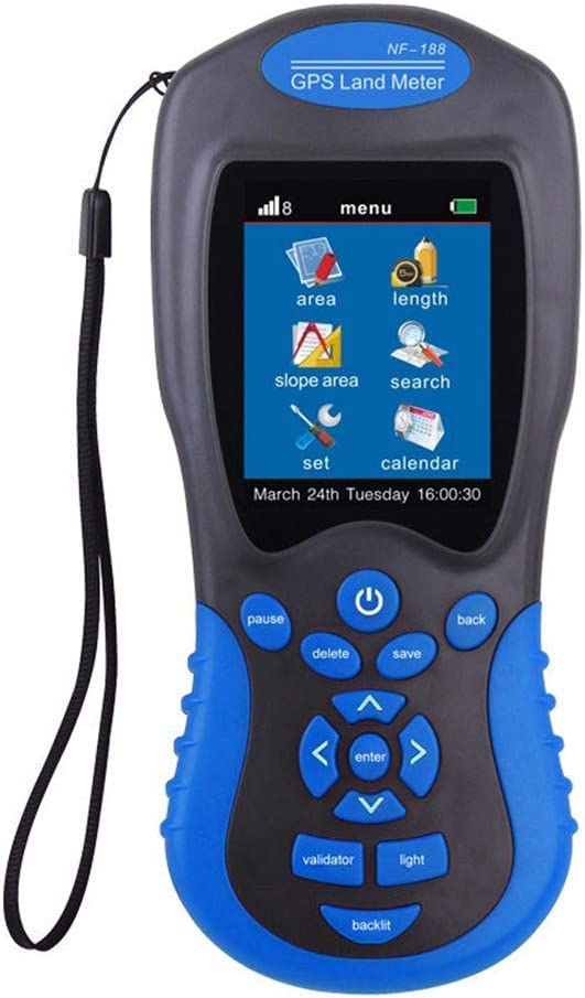 Medidor de tierra GPS, dispositivo de prueba de medición de tierra profesional de alta precisión Equipo de topografía para topografía de tierras agrícolas y herramienta de medición de áreas de mapeo