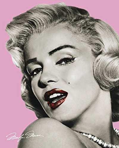 Marilyn Monroe Pink Celebrity Icon Poster Print 16 by 20