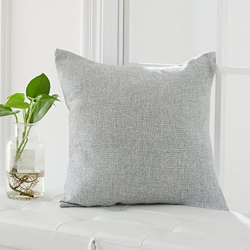 Deconovo Woven Fine Faux Linen Throw Cushion Case Pillow Cov