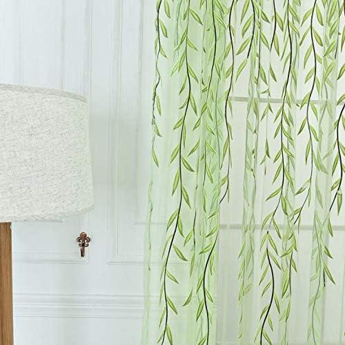 N//V Tenda di Vimini Filato Tulle Tenda Decorazione per finestre Filato di Vetro Stampa Ricamo per Soggiorno Camera da Letto Screen Screening