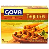Goya Beef Taquitos, 21.164 Ounce -- 12 per case.
