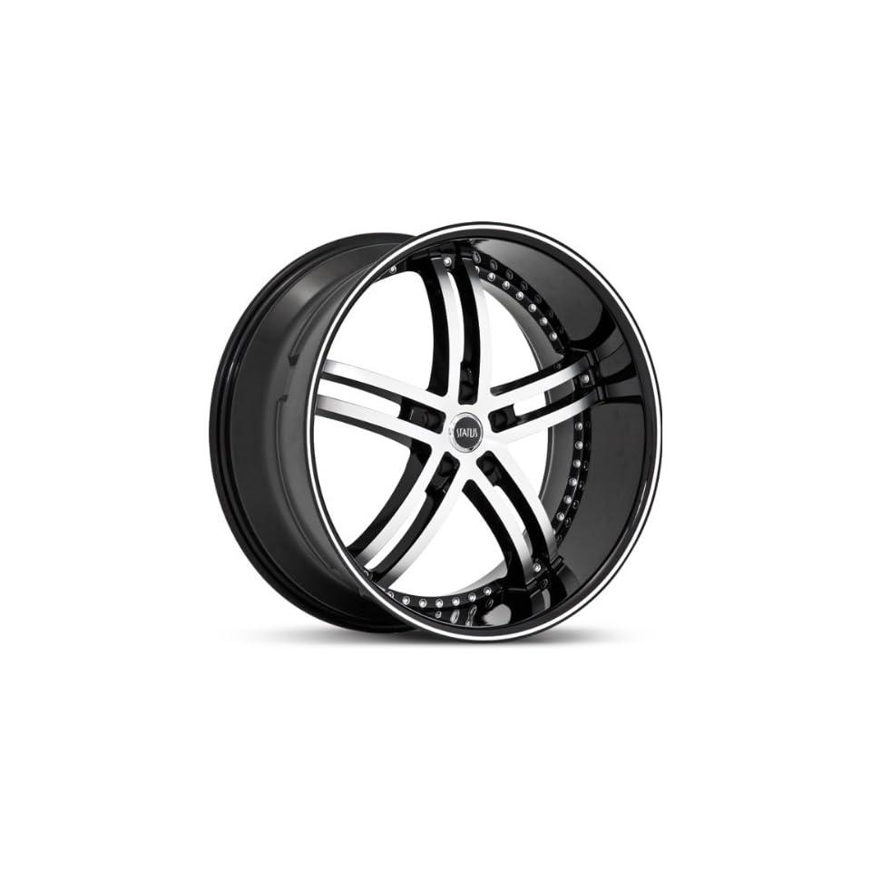 STATUS WHEEL   knight 5   24 Inch Rim x 9   (5x4.75) Offset (32) Wheel Finish   gloss black machined face