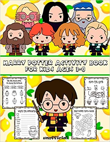 Book's Cover of Harry Potter Activity Book For Kids: Ages 3-8 | New Characters | It Will Be Fun | Find the Match, Dot-To-Dot, Word Search, Maze, Color by Number and So Many More Inside! (Inglés) Tapa blanda – 13 octubre 2020