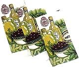 Designer Printed Decorative Everyday Kitchen Dish Towel Set of 3 Cotton Blend (Olive Oil)