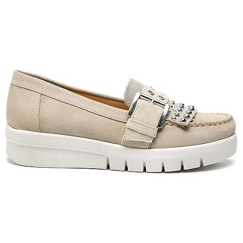 Geox D Wimbley C, Mocassins Femme: : Chaussures et Sacs