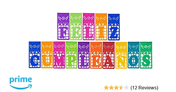 Paper Full of Wishes I Mexican Tissue Papel Picado Banner I Feliz Cumpleaños I Multi-Color Large Letrero Banner for Mexican Theme Birthdaysby Paper ...