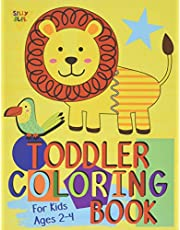 Toddler Coloring Book For Kids Ages 2-4: Preschool or Pre-K learning and educational activities. Letters (Alphabet or ABC) numbers counting shapes and animals. A coloring based alternative to children's workbooks or homeschooling supplies.