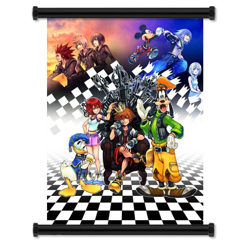 Kingdom Hearts Game Fabric Wall Scroll Poster (32x43) (Scroll Heart)