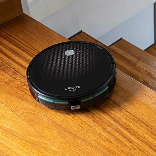CREATE IKOHS NETBOT S15 - Robot Aspirateur, 4-en-1 avec, Navigation intelligente, Silencieux, 5 Modes de nettoyage,Système de Nettoyage Puissant, Automatique,Wifi (Noir - Turquoise) - Home Robots