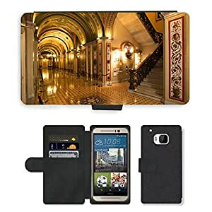 Hot Style Cell Phone Card Slot PU Leather Wallet Case // M00170680 Washington Dc Capitol Buildings Inside // HTC One M9