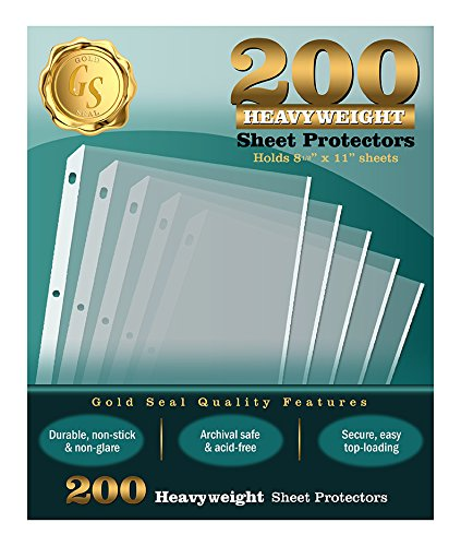 200/Box Clear Heavyweight Poly Sheet Protectors by Gold Seal, 8.5'' x 11'' by Gold Seal (Image #2)