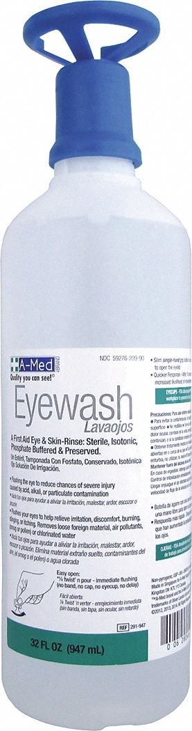 32 oz. Personal Eye Wash Bottle
