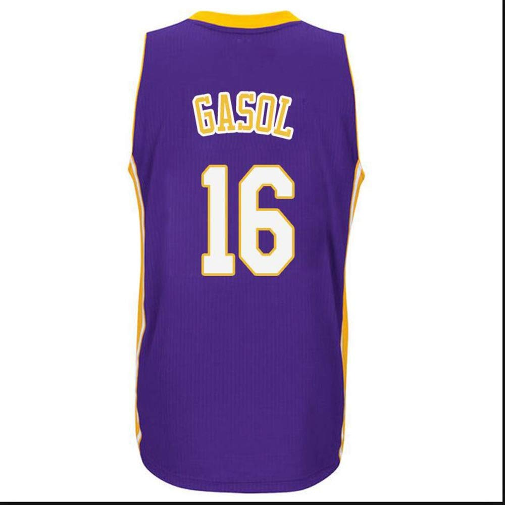 ZAIYI-Jersey Camiseta de Baloncesto Hombre -PAU Gasol # 16 ...
