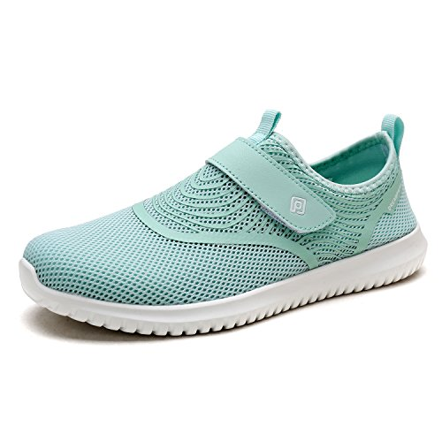 DREAM PAIRS Women's Quick-Dry Water Shoes Sports Walking Casual Sneakers Lt.green