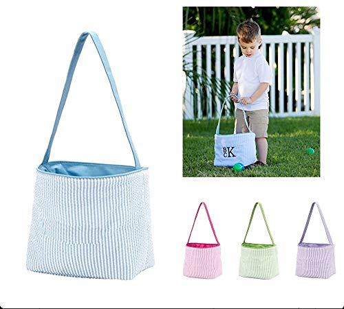 (Beschoice Easter Basket Easter Bunny Bag for Kids Easter Hunt Bag Gift Toy Bucket Tote)