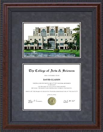 Amazon Com Wordyisms Diploma Frame With Florida International University Fiu Lithograph Sports Fan Diploma Frames Clothing