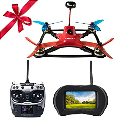 FPV Drone Racing Kit - DYS XDR220 RTF FPV Racing Drone | RC Quadcopter with  HD CCD Camera, Carbon Fiber Frame, SP F3 Flight Controller | Radiolink
