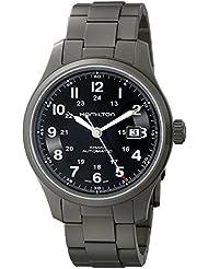 Hamilton Mens HML-H70565133 Khaki Field Black Dial Watch