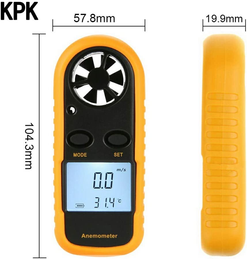 KPK Thermo-Anemometer Infrared Wind Speed Anemograph LCD Display