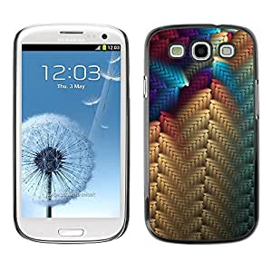 TopCaseStore Rubber Case Hard Cover Protection Skin for SAMSUNG GALAXY S3 & I9300 - beige blue purple pattern