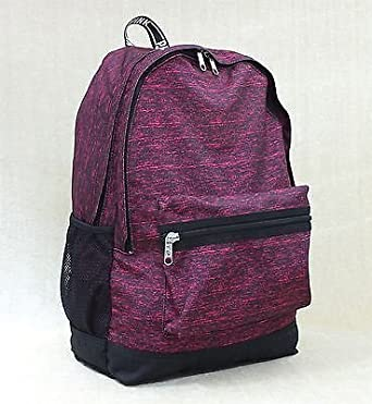 Amazon.com | Victorias Secret Pink Marled Maroon Campus Backpack ...